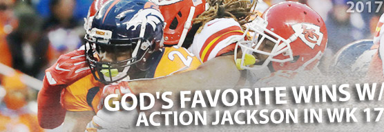 God's Favorite wins in week 17